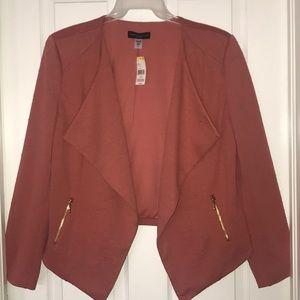 Faded Rose open blazer